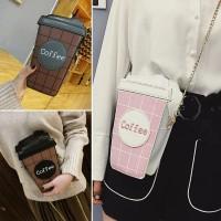 Női kávé alakú clutch táska
