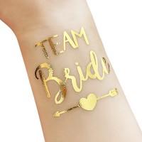 """Team Bride"" matrica esküvőre"