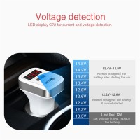Dupla USB autós mobiltelefon töltő adapter
