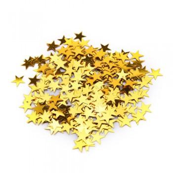 Arany színű csillagos konfetti