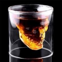 Koponyás feles pohár