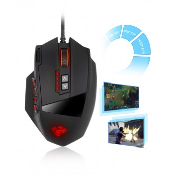 Rocketek MMO Gaming egér