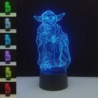 Yoda Star Wars 3D lámpa